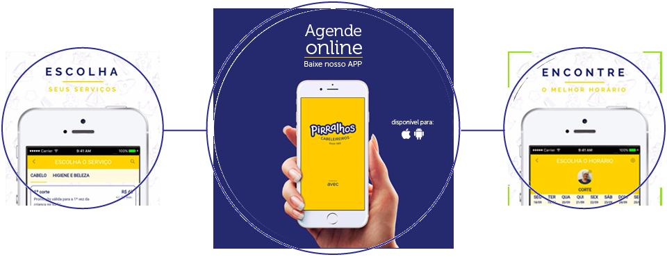 Agendamento online através do aplicativo